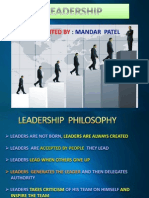 LEADERSHIP IDEOLOGY AND DHIRUBHAISM LEADERSHIP STYLE