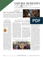L´OSSERVATORE ROMANO. 09 Diciembre 2012