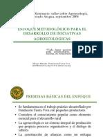 ENFOQUE METODOLÓGICO PARA EL DESARROLLO DE INICIATIVAS AGROECOLÓGICAS