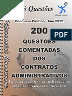 questões de CONTRATOS ADMINISTRATIVOS - apostila amostra