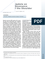 8- Technical Update on Magnetic Resonance Imaging of the Shoulder