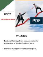 Unit 2 Entrepeneurship 3rd Sem MBA