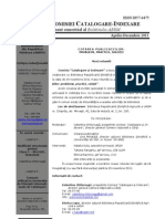 Buletinul Comisiei Catalogare-Indexare Nr 2-2011