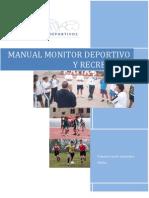 Manual Monitor Deportivo Recreativo Entrenamiento Sesion Tipo