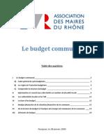 Prise de Notes - Formation AMR Sur Le Budget Communal