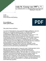 Kinderleben, Einwohnerverein Hamburg St. Georg, Pressemitteilung 10.12.2012