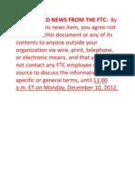 FTC Kids App Report