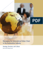 Managing the International Value Chain in the Automotive Industr