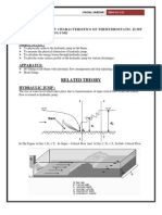 To Study the Flow Characteristics of Hydraulic Jump Developed in Laboratory Flume