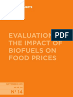 EVALUATION OF THE IMPACT OF BIOFUELS ON FOOD PRICES