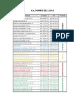 Calendario Final 2012-2013