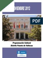 Programación Cultural noviembre 2012
