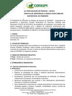 2 EDITAL PARA SELEÇÃO DE PESSOAL + ÁGUA