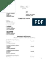Modelo de Currículo para o Edital de seleção de pessoal 09/2012