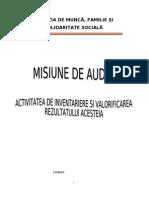 Misiune de Audit - Inventarierea Patrimoniului