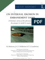 Intrnal Ersion in Embankment Dams-H.mattssion