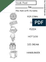 5 Ingles Vocabulary Food