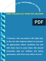 2 Some Thoughts on Effective Teaching