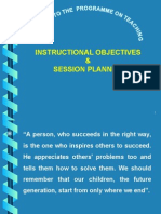 5 Instructional Objectives and Sessionl Planning