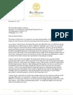 Letter to HHS Secretary Kathleen Sebellus