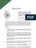 Resolución enviada por parte del Conicyt