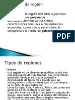 Definición de región