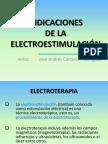 INDICACIONES ELECTROESTIMULACIÓN