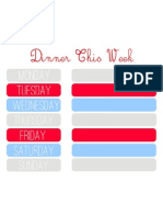 Meal Planner Red Blue Grey