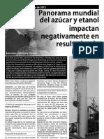 PANORAMA MUNDIAL DEL AZÚCAR Y ETANOL IMPACTAN NEGATIVAMENTE EN RESULTADOS DE INGENIOS