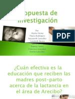 Propuesta Investigativa sobre la Lactancia
