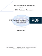 .IAF-GD3-2003 Cross Frontier Accredn Issue1v3 Pub