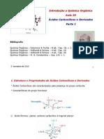 Aula 20 - Acidos Carboxilicos e Derivados I