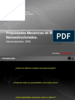 Propiedades Mecánicas de Metales Nanoestructurados-Presentacion