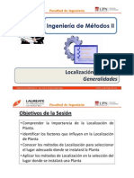 T 3.1 - IM II - UPN - Localización de Planta - Generalidades