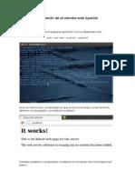 Instalación de un servidor web Apache