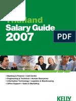 Thailand Salary 2007