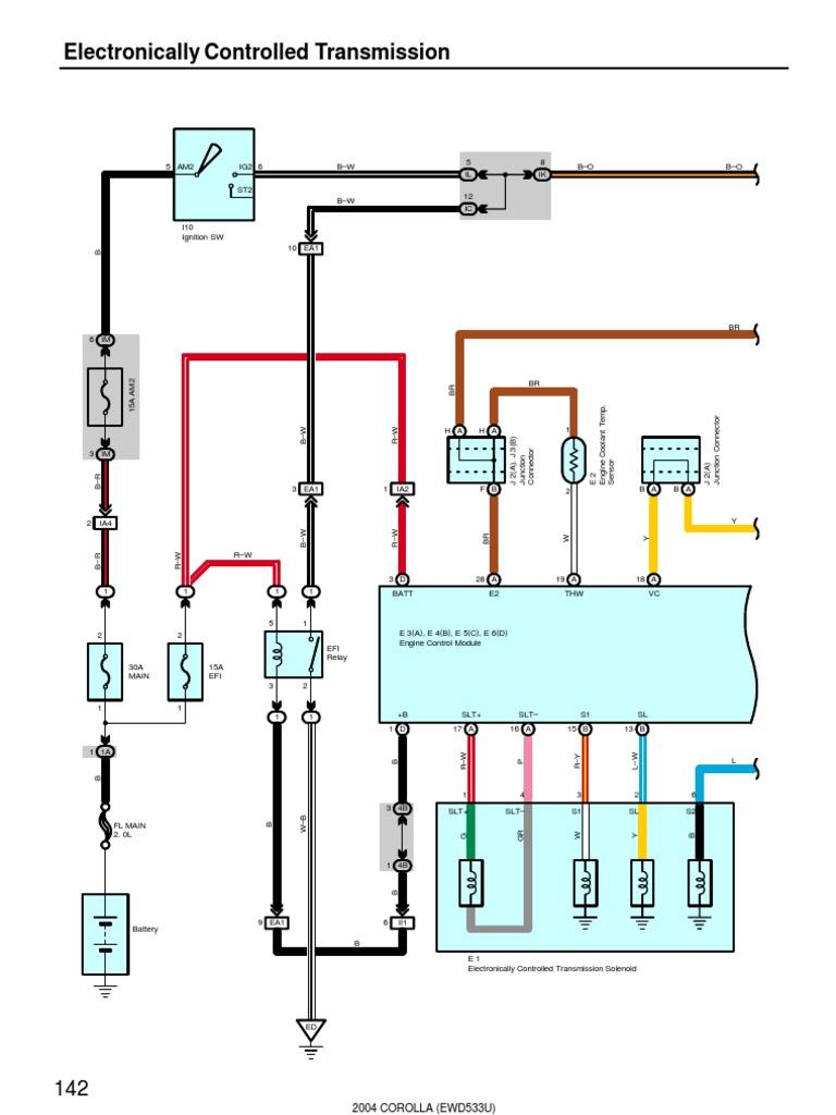 2004 Corolla Electrical Diagram