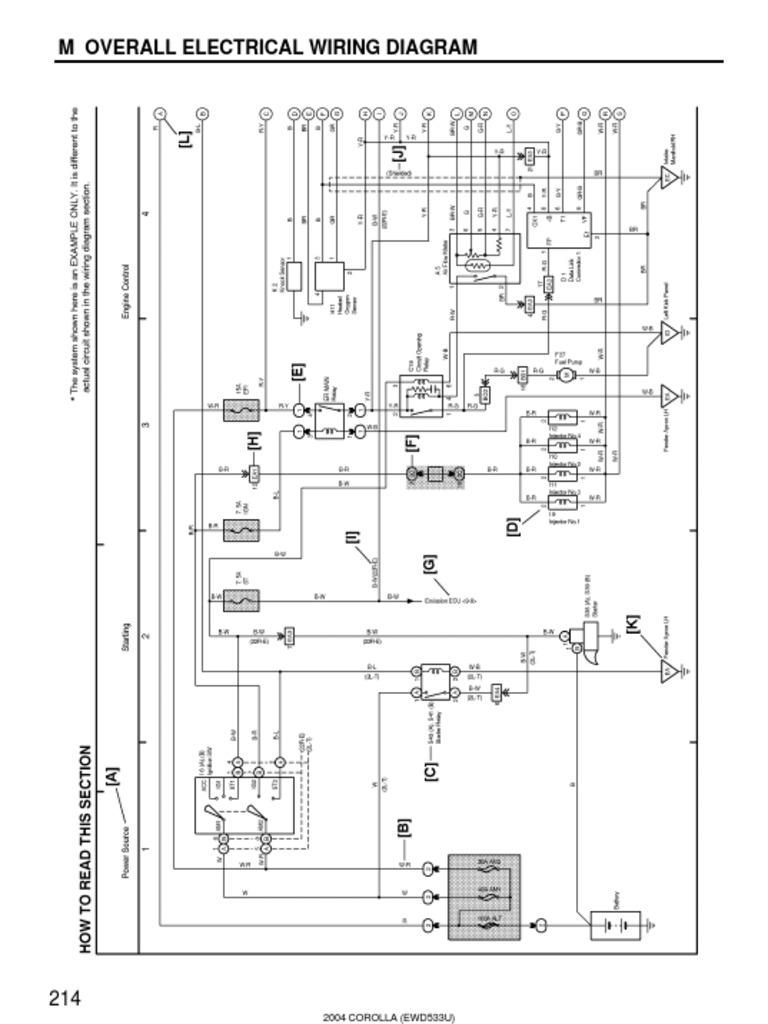 2004 Corolla Electrical Diagram -Overall Diagram2   Color   Electrical  Connector