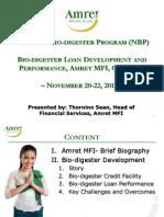 3. Sean Thorninn - Bio-Digester Loan Development and Performance in Cambodia