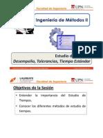 T 1.1 - IM II - UPN - Estudio de Tiempos - Generalidades