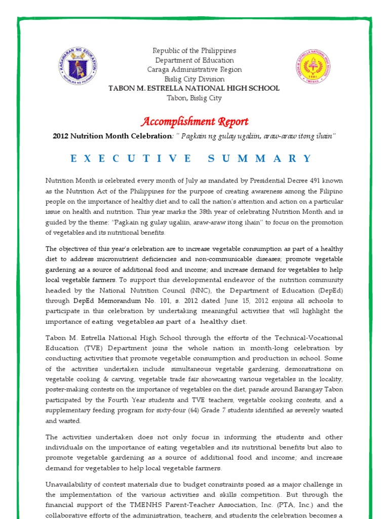 essay about nutrition month 2018 english