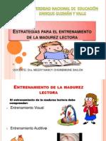 Estrategias Para El Entrenamiento de La Madurez Lectora1