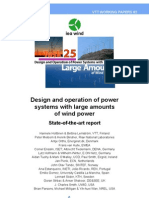 Design and Operation of Power Systems With Large Amounts of Wind Power