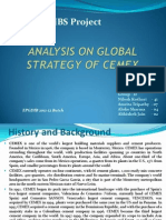 Global Strategy of CEMEX