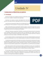Modelagem de Processos Unidade IV