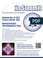 Philly Bit Coin Summit Flyer Print Able