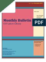 Library Bulletin, November 2012