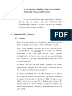 DETERMINACIÓN DE CAPA DE ESTAÑO E IDENTIFICACIÓN DE BARNICES EN ENVASES METÁLICOS(1)
