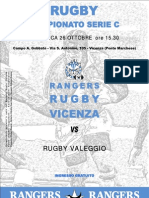 Pieghevole Rangers Rugby Vicenza 08-09 Nr.02
