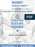 Pieghevole Rangers Rugby Vicenza 08-09 Nr.03